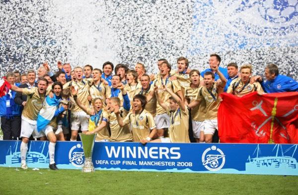 ФК Зенит - победитель КУЕФА в 2008 году (фото)